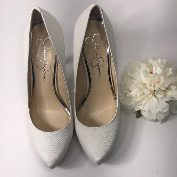 d18511c330 Jessica Simpson Shoes   Parisah White Platform Pump   Poshmark
